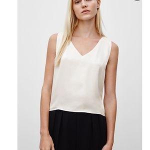 Aritzia Babaton murphy blouse white espace XL